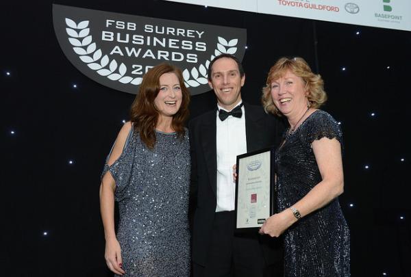 Sarah and Mary accepting FSB Award