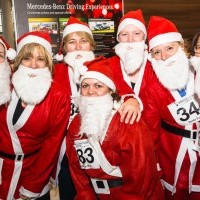 Woking Hospice Charity Santa Fun Run